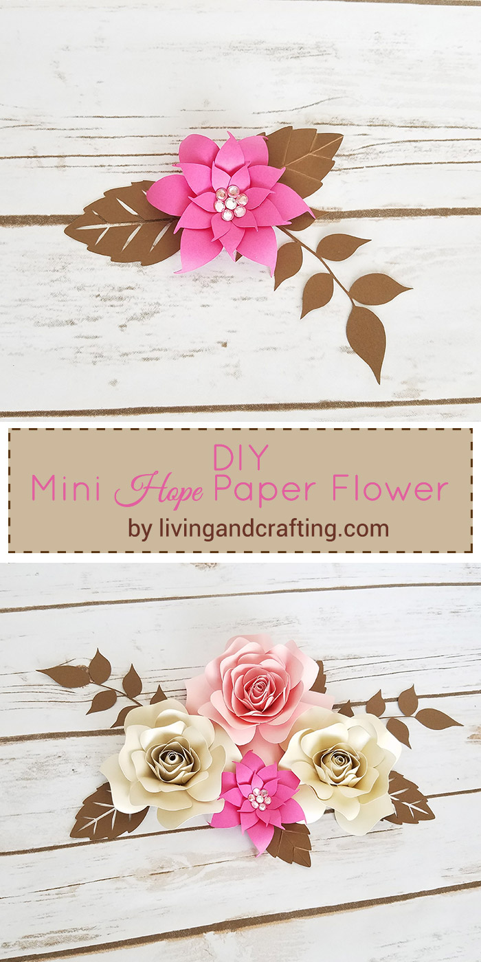 Diy mini hope paper flower with free template living and crafting diy mini hope paper flower template 2 mightylinksfo