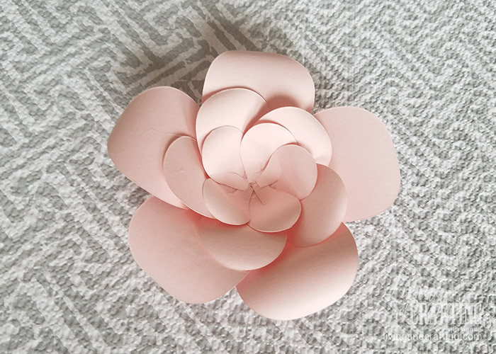 Diy mini sweet paper flower with free template living and crafting mini sweet paper flower 12 mightylinksfo