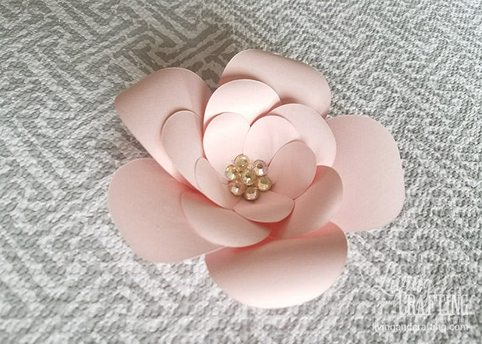 Diy mini sweet paper flower with free template living and crafting mini sweet paper flower 14 mightylinksfo