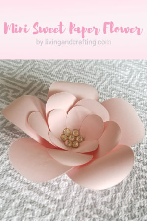 DIY Mini Sweet Paper Flower with Free Template