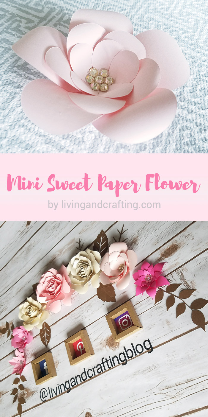 Mini Sweet Paper Flower Template 1