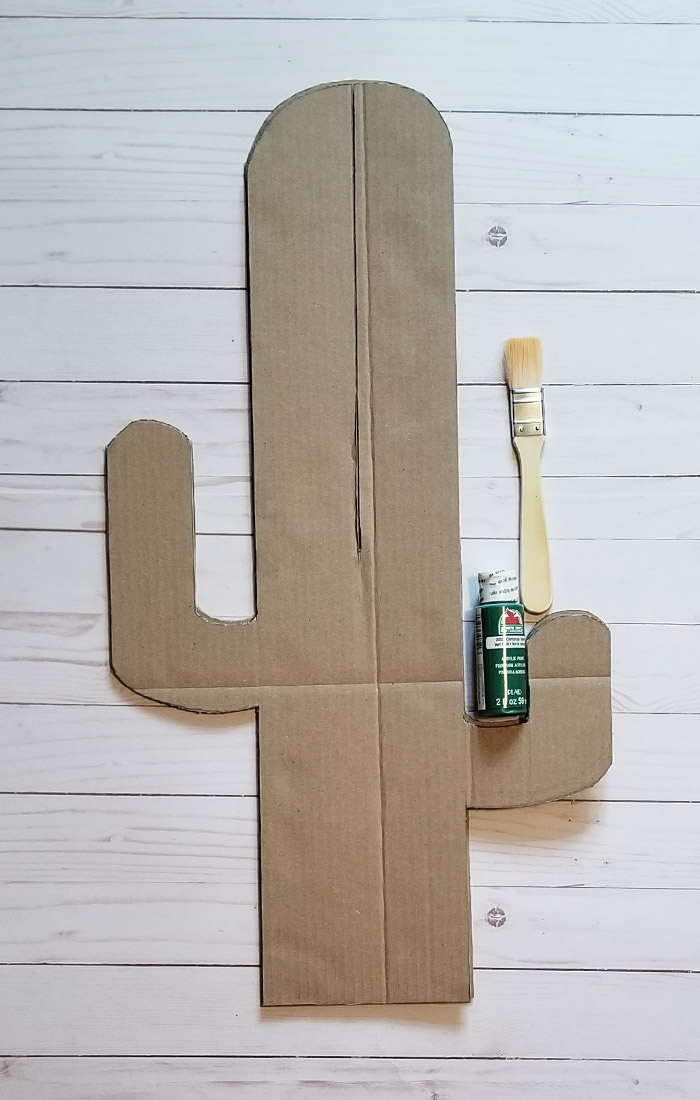 Easy Cardboard Cactus 7