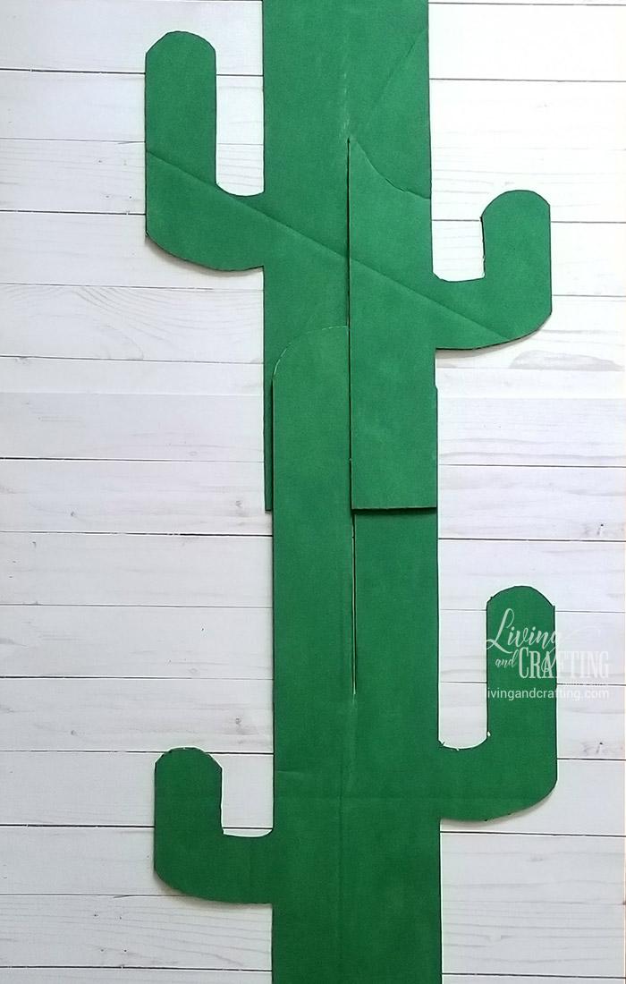 Easy Cardboard Cactus 9