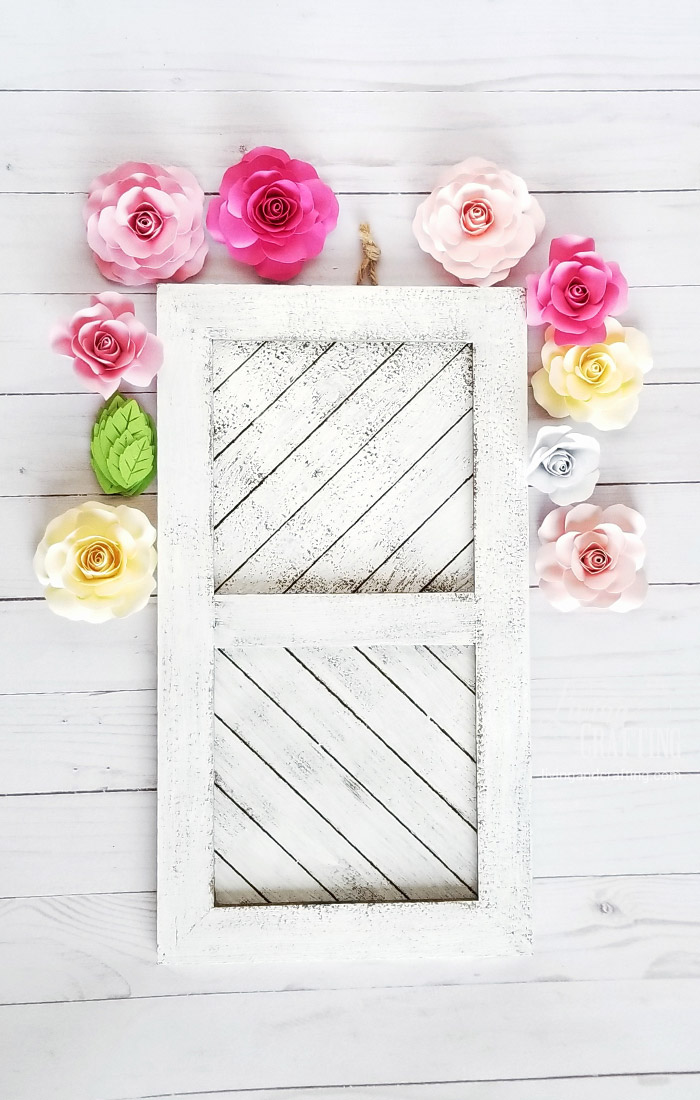 Paper Rose Mother\'s Day Rustic Frame - Living and Crafting