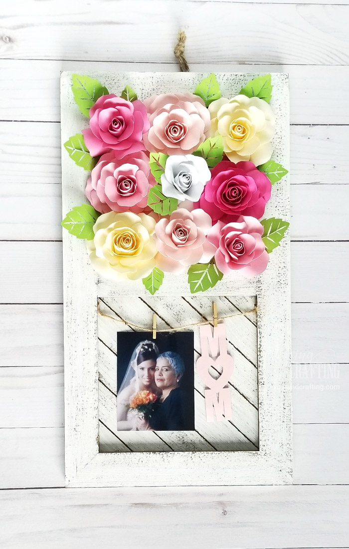 Paper Rose Mother's Day Rustic Frame 12