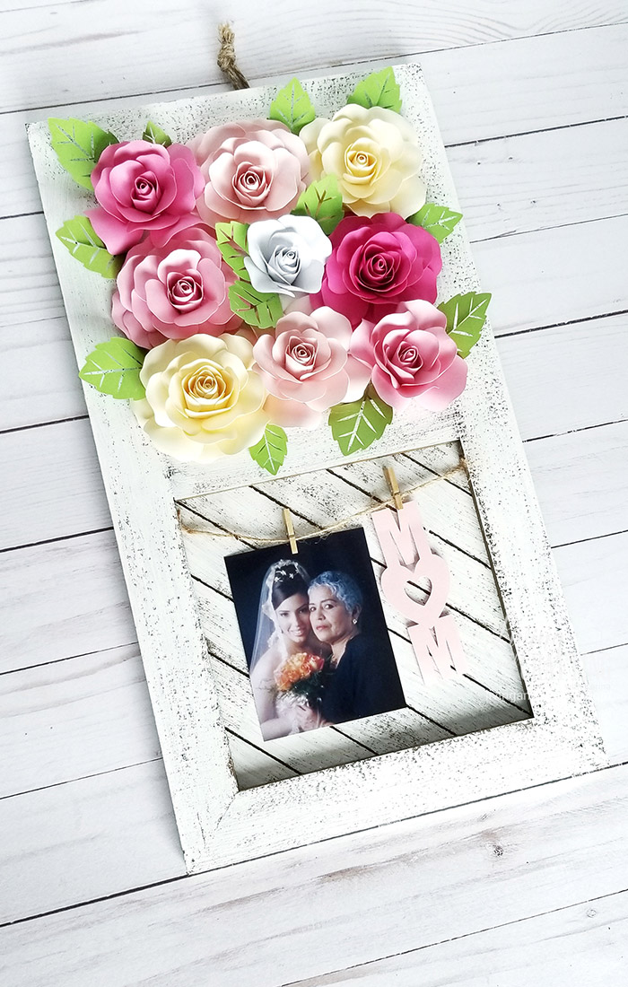 Paper Rose Mother's Day Rustic Frame 13