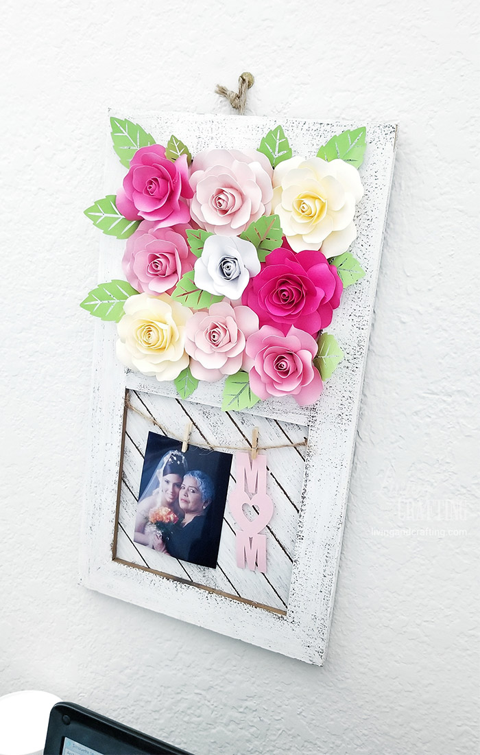 Paper Rose Mother's Day Rustic Frame 17