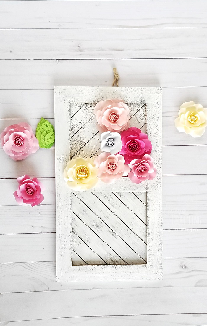 Paper Rose Mother's Day Rustic Frame 2