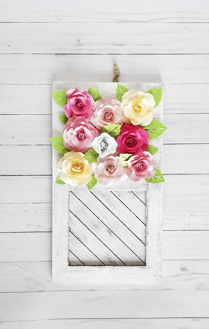 Paper Rose Mother's Day Rustic Frame 3