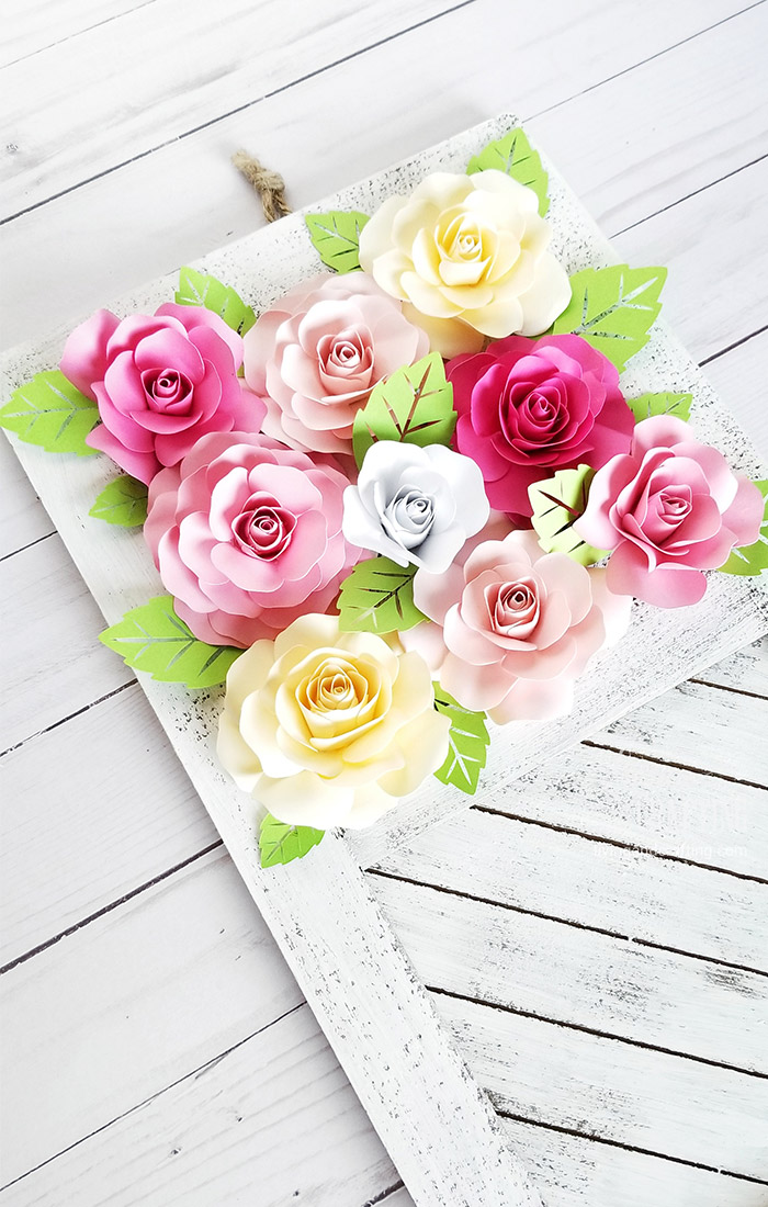 Paper Rose Mother's Day Rustic Frame 4