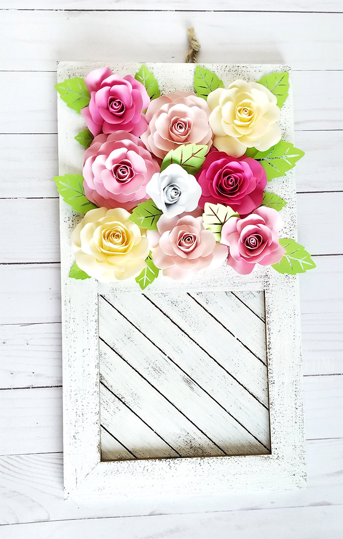 Paper Rose Mother's Day Rustic Frame 9