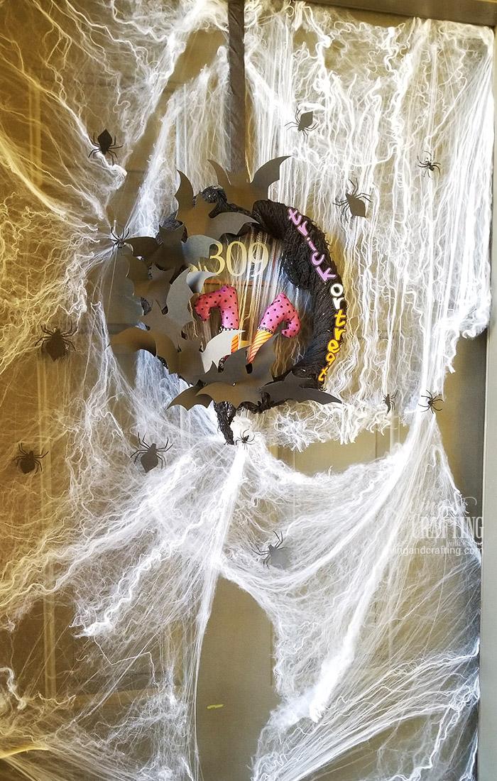 Easy Halloween Witch Wreath Spooky