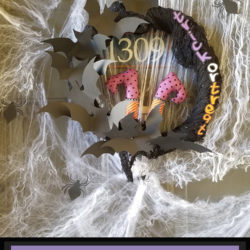 Easy Halloween Witch Wreath supplies ft
