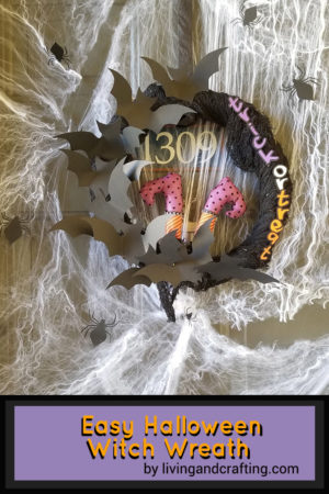 Easy Halloween Witch Wreath