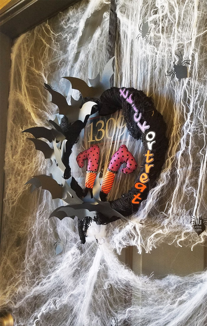 Easy Halloween Witch Wreath funny