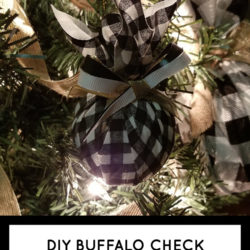 Buffalo Check Christmas Tree Ornament ft