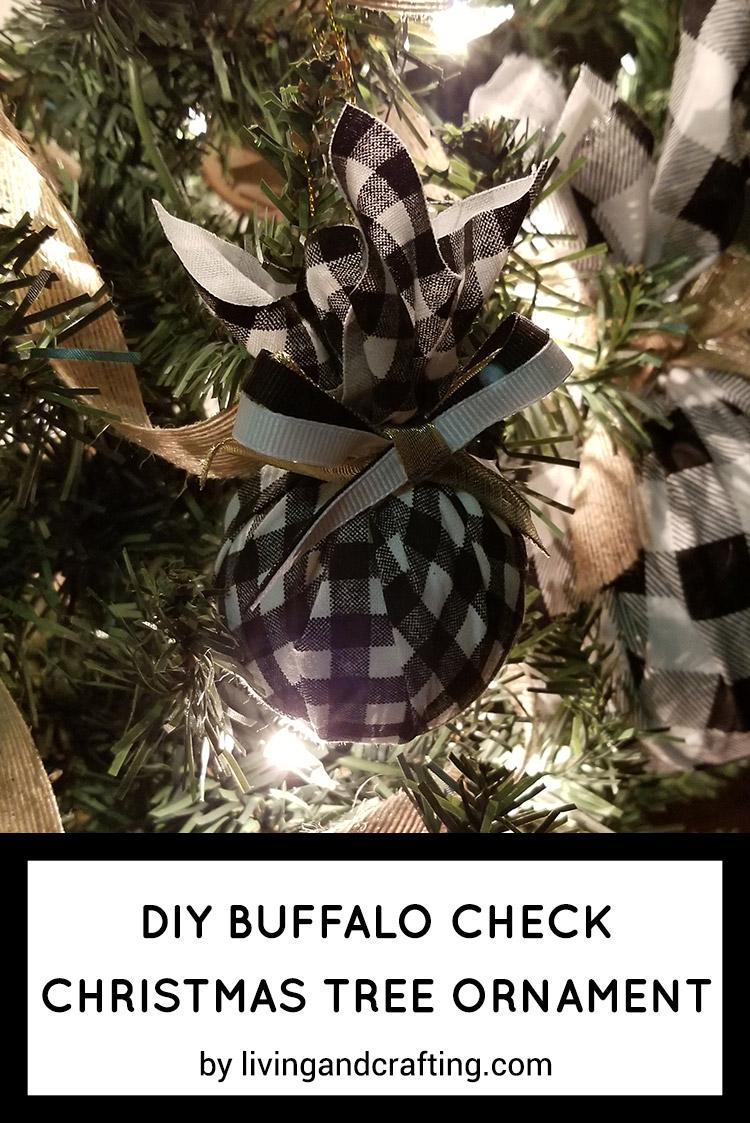 Buffalo Check Christmas Tree Decor.Diy Buffalo Check Christmas Tree Ornament Living And Crafting