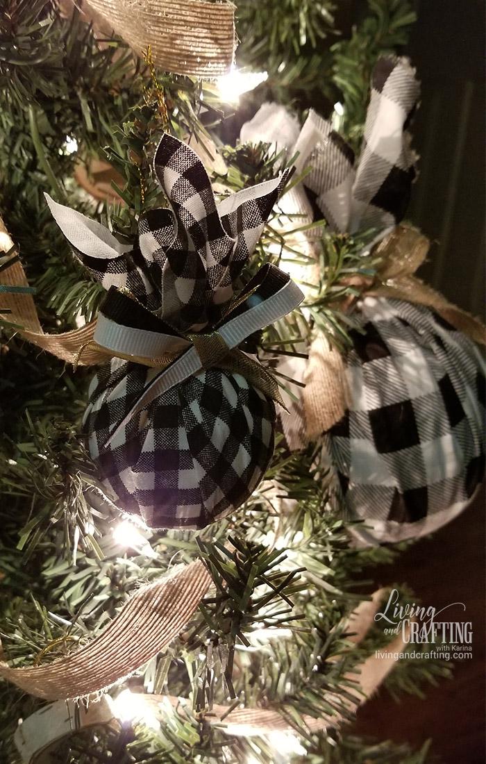 Buffalo Check Christmas Tree Ornament cozy