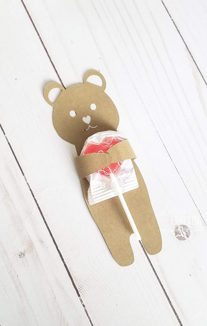 Valentines Candy Wrapper lollipop