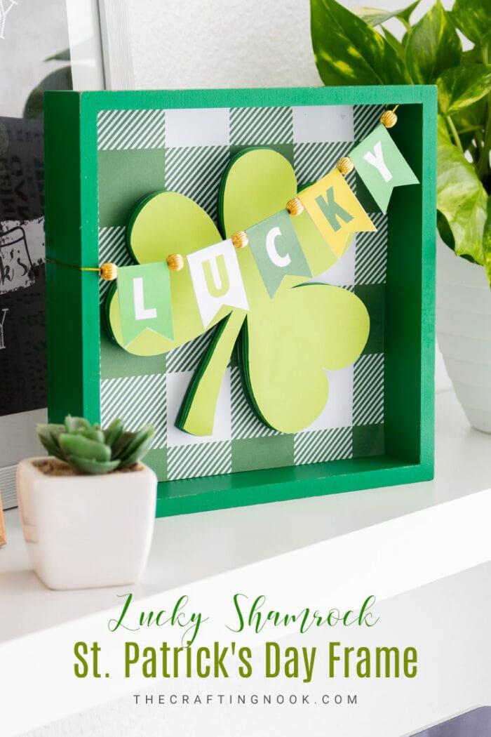 Lucky Shamrock St Patricks Day Frame FT 700x1050